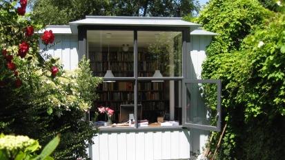 werkruimte in tuin